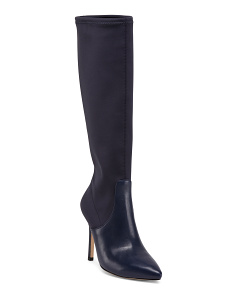 Pointed Toe Knee High Dress Boots
