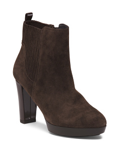 Platform Kid Suede Booties