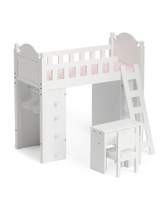 18in Doll Bunk Bed And Desk