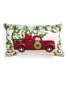 14x24 Truck With Tree Pillow