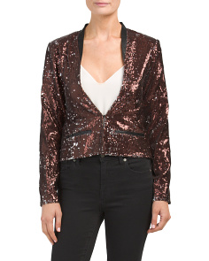 Juniors Brone Sequin Jacket