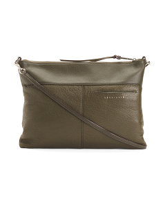 Tasseled Leather Crossbody
