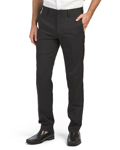 Slim Fit Stretch Pants With Comfort Waist