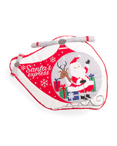 Kids 20x15 Santa Helicopter Pillow
