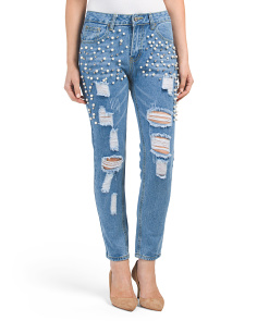 Destructed Studded Jeans