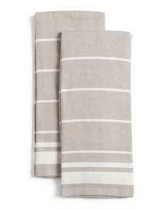 2pk Dessert Stripe Kitchen Towels
