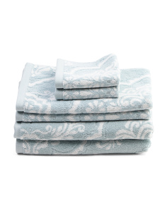 6pc Ritz Floral Towel Set