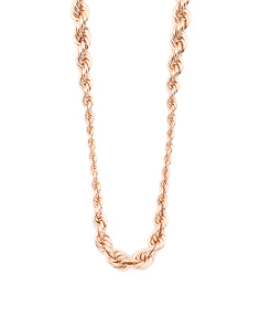 Made In Italy Bronze Graduated Rope Necklace