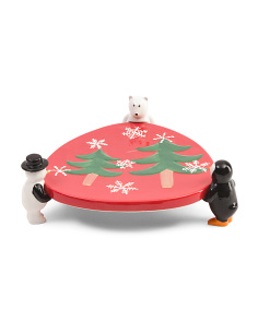 Arctic Holiday Cake Plate