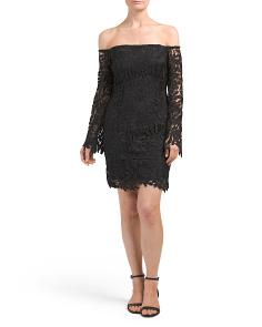 Flora Off Shoulder Lace Dress