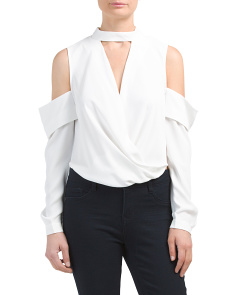 Sloane Cold Shoulder Wrap Top