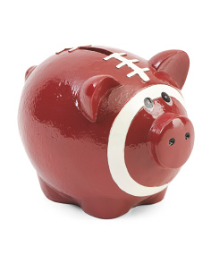 6in Football Pattern Piggy Bank