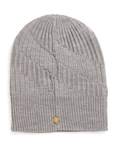 Pleated Rib Reversible Beanie