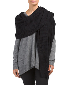 Pleated Diagonal Rib Wrap