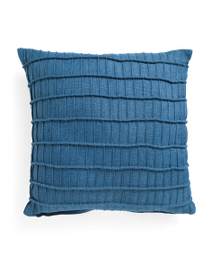 20x20 Pleated Faux Linen Pillow