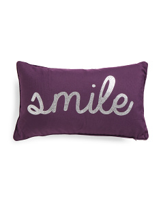 12x20 Foil Print Smile Pillow