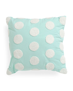 18x18 Textured Circle Pillow