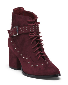 Lace Up Fashion Booties
