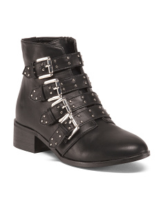 Military Buckly Fashion Booties