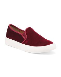 Velvet Slip On Sneakers