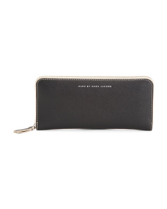 Sophisticato Slim Zip Around Leather Wallet