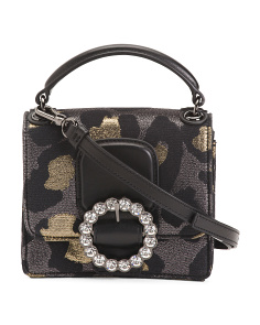 The Box Leopard Leather Crossbody