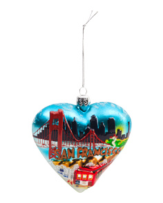 4in San Francisco Heart Ornament