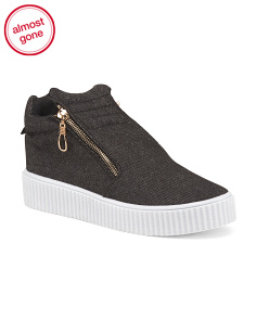 Creeper Sneakers With Side Zippers