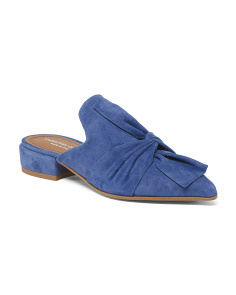 Made In Italy Pointy Toe Suede Mules