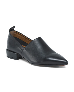 Made In Italy Pointy Toe Leather Loafers
