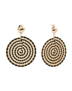 Woven Disc Earrings