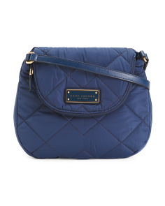 Quilted Nylon Mini Messenger