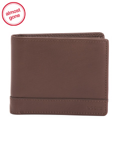 Leather Bifold With RFID