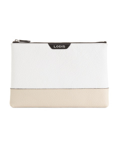 Valencia Flat Leather Pouch