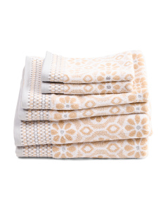 6pc Perugia Bath Towel Set