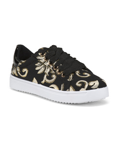 Lace Up Brocade Sneakers