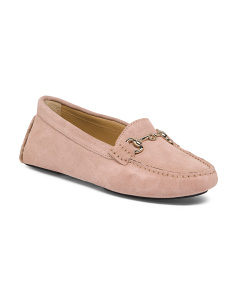 Made In Italy Suede Driver Flats