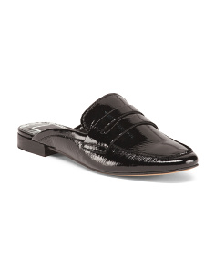 Patent Leather Loafer Inspired Mules