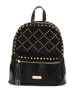 Joan Velvet Stone Large Backpack