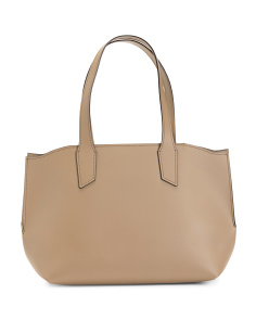 Made In Italy Shaped Leather Tote