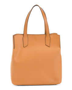 Made In Italy Leather Shaped Tote