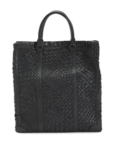 Made In Italy Woven Leather Tote