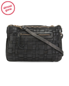Made In Italy Leather Double Crossbody