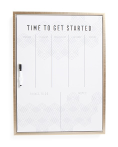 18x24 Get Started Dry Erase Board