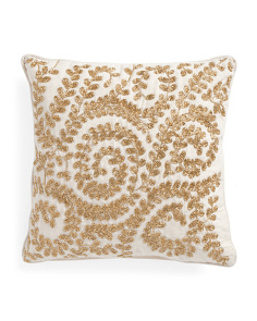 Made In India 16x16 Beaded Pillow