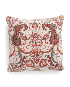 Made In India 20x20 French Knot Pillow