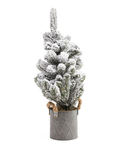2ft Faux Tree In Galvanized Pot