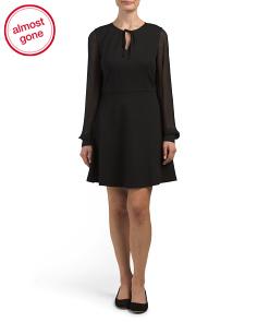 Dakota Chiffon Sleeve Dress