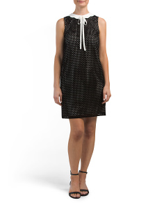 Joelle Sleeveless Scallop Collar Dress