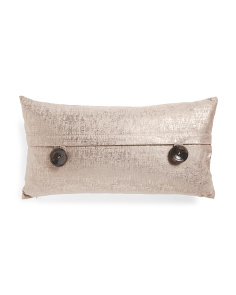 14 X 26 Metallic Velvet Button Pillow